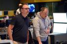 Composer Henry Jackman and scoring mixer Chris Fogel
