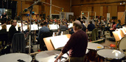 The view of <i>The Jungle Book</i> sessions from the percussion section