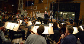 Composer John Debney and the orchestra record a cue for <i>The Jungle Book</i>