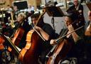 Cellists Armen Ksajikian and Giovanna Clayton