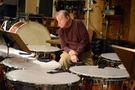 Don Williams performs on timpani