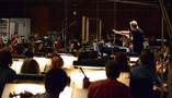Composer/conductor John Debney records with the Hollywood Studio Symphony