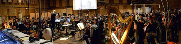 Composer John Debney conducts a 102-piece orchestra on his score for <i>The Jungle Book</i>