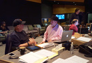 Music editors Jim Henrickson and Joe E. Rand, and ProTools recordist Kevin Globerman