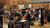 The cellos and basses perform on <em>The Magnificent Seven</em>