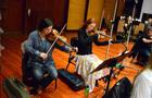The violins tune