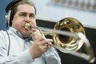 A trombone player