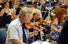Violinists Bruce Dukov and Natalie Leggett