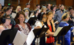 The choir records a cue from composer Michael Giacchino's score for <i>Star Trek Beyond</i>
