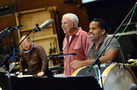 Percussionists Don Williams, Dan Greco, and Walter Rodriguez