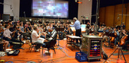 Conductor/orchestrator Nicholas Dodd and the Hollywood Studio Symphonyrecord a cue for the Danna brothers' score to <i>Storks</i>