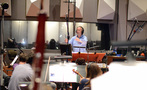 Conductor/orchestrator Nicholas Dodd conducts on <em>Storks</em>