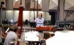Conductor/orchestrator Nicholas Dodd conducts on <em>Storks</em>