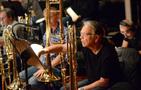 Bass trombonist Bill Reichenbach finds the next cue