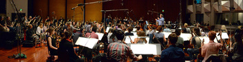 The orchestra performs a cue from <i>Storks</i> with conductor/orchestrator Nicholas Dodd