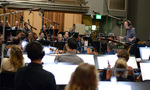 Conductor Jeffrey Schindler records with the Hollywood Studio Symphony