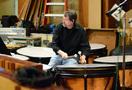 Percussionist Greg Goodall performs on timpani