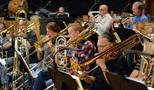 Trombonists Alex Iles, Steve Holtman, Phil Keen, and Bill Reichenbach
