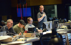Composer John Ottman, supervising orchestrator Rick Giovinazzo, music editor Joe Bonn, and ProTools recordist Kevin Globerman