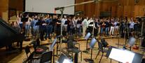 The choir records