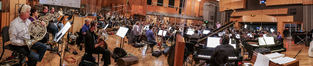 The orchestra records a cue with conductor Tim Simonec for <i>War for the Planet of the Apes</i>