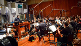 Composer/conductor Christopher Lennertz with the Hollywood Studio Symphony