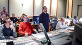 Orchestrators Michael Lloyd and Andrew Kinney, composer Christopher Lennertz, scoring mixer Jeff Vaughn, and music scoring recordist Tom Hardisty
