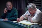 Orchestrator Jonathan Sacks and composer Randy Newman go over a cue on <em>Cars 3</em>