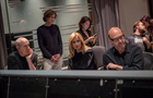 Conductor William Ross, lyricist Glen Ballard, vocalist Lara Fabian, director Angie Su, and composer Randy Kerber