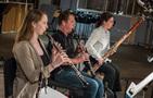 Oboeist Jessica Pearlman Fields, clarinetist Stuart Clark and bassoonist Rose Corrigan