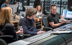 Vocalist Lara Fabian, lyricist Glen Ballard, producer Helen Nightengale (rear) and scoring mixer Adam Michalak