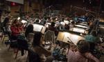 The strings perform on composer Tom Holkenborg's score for <i>The Dark Tower</i>