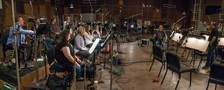 Composer Tom Holkenborg talks with the woodwinds