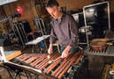 Percussionist Wade Culbreath performs on xylophone