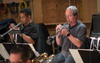 Trumpet players Barry Perkins and Jon Lewis