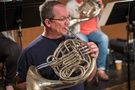 Teag Reeves on French horn