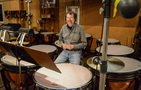Percussionist Gregory Goodall performs on timpani