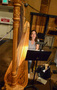 Harpist Marcia Dickstein