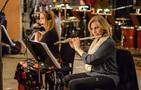 Sara Andon and Geri Rotella perform on flute
