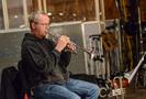 Jon Lewis performs on trumpet
