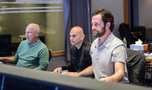 Orchestrator Brad Warnaar, supervising music editor Joe Lisanti, and scoring mixer Greg Hayes