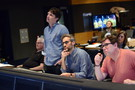 Orchestrator Tim Simonec, director Zach Braff, composer Rob Simonsen, and scoring mixer Alan Meyerson