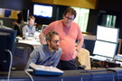 Composer Rob Simonsen and scoring mixer Alan Meyerson