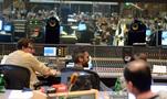 Scoring mixer Alan Meyerson and composer Rob Simonsen enjoy a moment in the booth