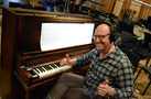 Pianist Randy Kerber gives the thumbs up to record