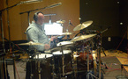 Percussionist Peter Erskine performs on drumset