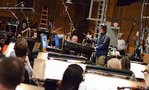Composer Nathan Wang records a cue with the Hollywood Studio Symphony
