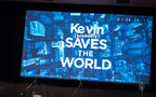 The title card for Kevin (Probably) Saves the World