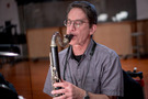 Chris Bleth performs on bass clarinet