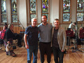 Composer Anthony Willis with Score Producers Keith Leary and Pete Scaturro at Oceanway Studios